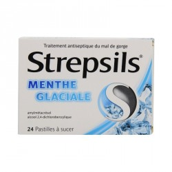 Strepsils Menthe Glaciale 24 pastilles à sucer