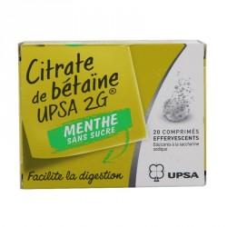 Citrate de betaine Upsa menthe sans sucre 20 g