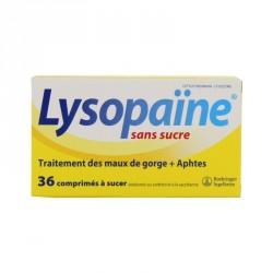 Lysopaïne maux de gorge 36 comprimés à sucer