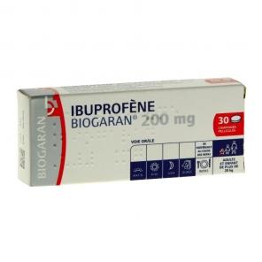 Ibuprofene Biogaran 200Mg 30 Comprimés Pelliculés