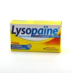 Lysopaïne Maux De Gorge Cetylpyridinium Lysozyme Fraise Sans Sucre 18 Comprimés