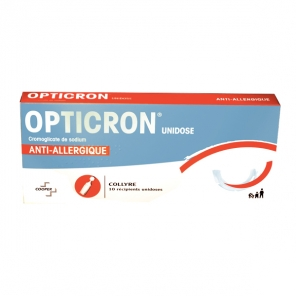 Opticron collyre 10 récipients unidoses