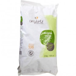 Argiletz - poudre d'argile verte concassee 3 kg