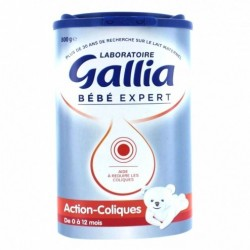 GALLIA ACTION COLLIQUE LAIT 0-12 MOIS 800 G
