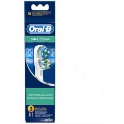 ORAL-B 3 BROSSETTES DE REMPLACEMENT DUAL CLEAN