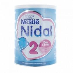 NESTLE NIDAL 2 LAIT EN POUDRE DES 6 MOIS 800G