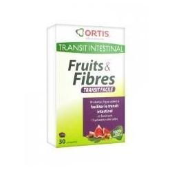 Ortis Transit Intestinal Fruits & Fibres 30 Comprimés