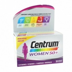 CENTRUM WOMEN 50+ 30 COMPRIMES VITAMINES ET MINERAUX