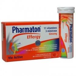 Pharmaton Effergy 20 comprimés - vitamines - minéraux & ginseng