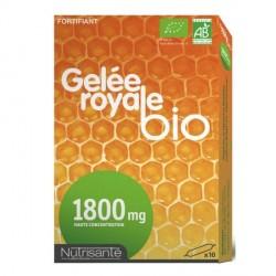 Gelée Royale Bio 1800mg 10 Ampoules