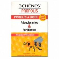 3 CHENES PROPOLIS PASTILLES A SUCER ADOUCISSANTES X40