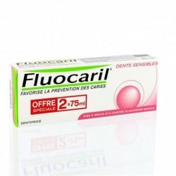 Fluocaril dents sensibles dentifrice 75ml x2