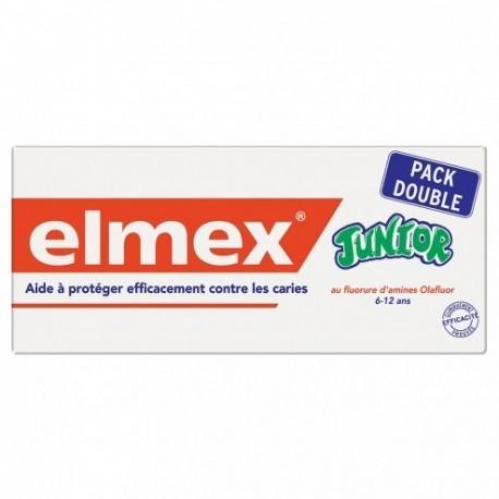 ELMEX DENTIFRICE JUNIOR 6/12 ANS LOT DE 2x75 ML 150ml