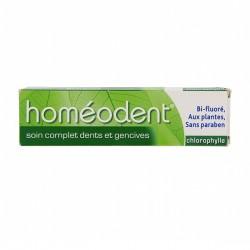 Homéodent dentifrice soin gencives sensibles goût chlorophylle - 75 ml - bi fluoré, aux plantes, sans paraben