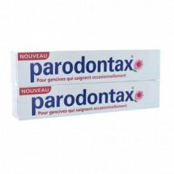 PARODONTAX Dentifrice blancheur quotidien au fluor - lot de 2 tubes de 75 ml