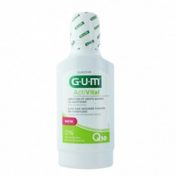 GUM ACTIVITAL BAIN DE BOUCHE SANS ALCOOL PREVENTION QUOTIDIENNE COMPLETE 300ML