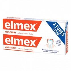 ELMEX DENTIFRICE ANTI CARIES LOT 2X125ML