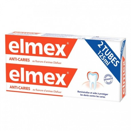 ELMEX DENTIFRICE ANTI CARIES LOT 2X125ML