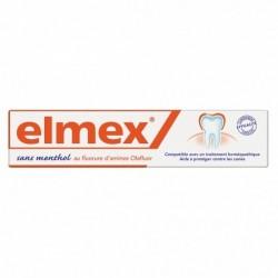 Dentifrice elmex compatible avec l'homéopathie sans menthol - 75 ml