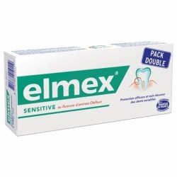 ELMEX SENSITIVE DENTIFRICE LOT 2X75ML 150ml