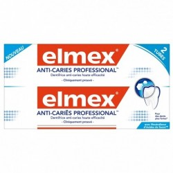 ELMEX DENTIFRICE ANTI-CARIES PROFESSIONNEL LOT 2X75ML 150ml