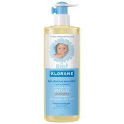 KLORANE Bain bébé gel douceur moussant corps et cheveux 500 ml