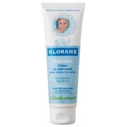 KLORANE Crème hydratante et nutritive bébé au cold cream 125 ml