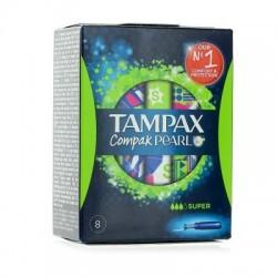 Tampax Compak Pearl Super 8 tampons