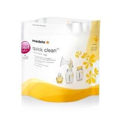 """MEDELA - Gestion du lait maternel (à domicile) - sachets """"quick clean"""" pour 100 stérilisations - 5 sachets"""
