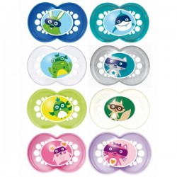 MAM - Sucettes Anatomique Animaux- silicone - 18 mois