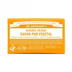 DR.BRONNER'S - Pain de savon agrumes & orange - 140 g