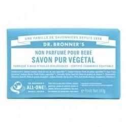 DR.BRONNER'S - Pain de savon non parfumé - 140 g