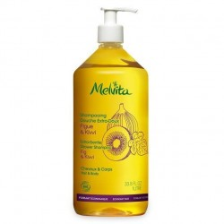 MELVITA - Shampooing douche figue et kiwi extra-doux - 1 L