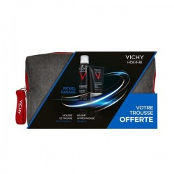 VICHY HOMME TROUSSE SENSIBAUME 75ML + MOUSSE A RASER 200ML