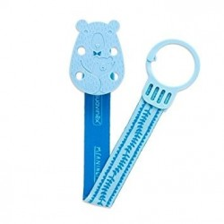 ATTACHE SUCETTE OURS RUBAN BLEU