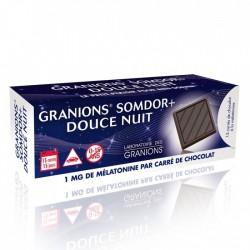 GRANIONS SOMDOR+ DOUCE NUIT - 15 CARRES DE CHOCOLAT A LA MELATONINE