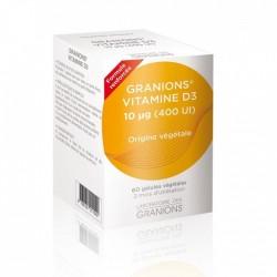 GRANIONS VITAMINE D3 10µg - 60 GELULES VEGETALES