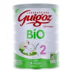 GUIGOZ Lait Bio 2ème âge Dès 6 mois jusqu'a 1 an - 800 g