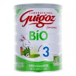 GUIGOZ Lait Bio 3ème âge De 10 mois à 3 ans - 800 g