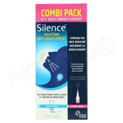 Silence Combi pack 15ml + 50ml Kit anti-ronflement