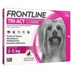 FRONTLINE TRI-ACT - SOLUTION POUR SPOT-ON POUR CHIENS XS 2-5 KG