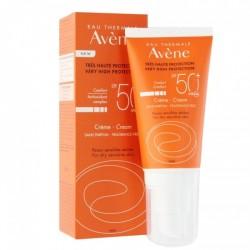 AVENE - CREME SANS PARFUM SPF 50+ - PEAUX SENSIBLES SECHES - 50 ML