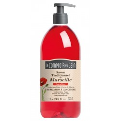 LE COMPTOIR DU BAIN - SAVON TRADITIONNEL DE MARSEILLE - ROSE - 500 ML