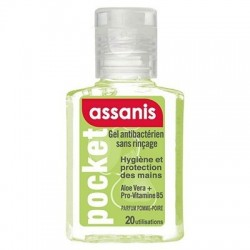 ASSANIS - GEL ANTIBACTERIEN POCKET PARFUM AMANDE - 80 ML