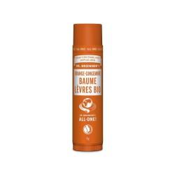 DR. BRONNER'S - BAUME LEVRES BIO ORANGE GINGEMBRE - 4 G