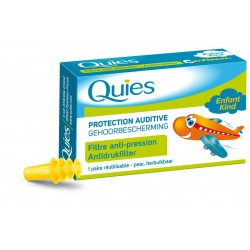 QUIES - PROTECTION AUDITIVE EN SILICONE - SPECIAL NATATION - 3 PAIRES