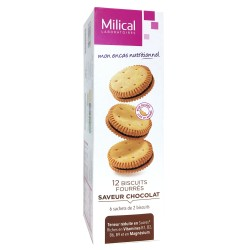 MILICAL - BISCUITS FOURRES - SAVEUR CITRON - 12 BISCUITS