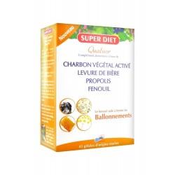 SUPER DIET - QUATUOR BALLONNEMENTS - 45 GELULES