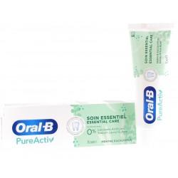 Dentifrice PureActiv Soin Essentiel menthe eucalyptus Oral-B - tube de 75 ml