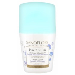 SANOFLORE PURETÉ DE LIN DÉODORANT EFFICACITÉ 24H ROLL-ON 50 ML